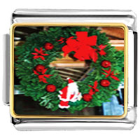Italian Charms - santa claus christmas gift wreath italian charms bracelet link photo italian charm Image.