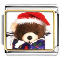 Italian Charms - santa claus christmas gift teddy bear present italian charms bracelet link photo italian charm Image.