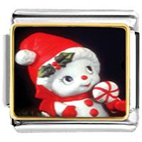 Italian Charms - christmas gifts snowman santa claus snow woman figurine italian charms bracelet link photo italian charm Image.
