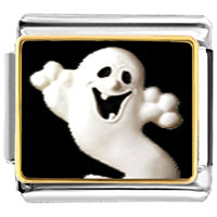 Italian Charms - halloween ghost italian charm photo italian charm Image.
