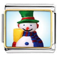 Italian Charms - charms plastic christmas gifts snowman italian charms bracelet link photo italian charm Image.