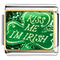 Italian Charms - kiss me i' m irish italian charms photo italian charm Image.