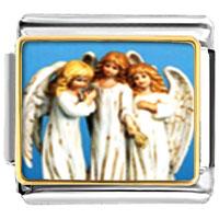 Items from KS - bracelet three angels religious italian charms link photo italian charm Image.