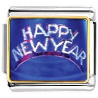 Items from KS - happy newyear hat italian charms bracelet link photo italian charm Image.
