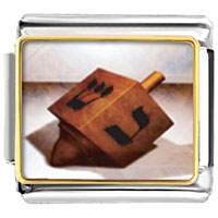 Items from KS - bracelet eight day hanukkah dreidel religious italian charms link photo italian charm Image.