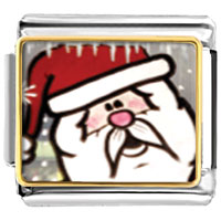 Italian Charms - santa claus christmas gift surprised italian charms bracelet link photo italian charm Image.