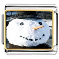 Italian Charms - charms real christmas gifts snowman italian charms bracelet link photo italian charm Image.