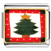 Italian Charms - christmas tree gifts quilt square italian charms bracelet link photo italian charm Image.