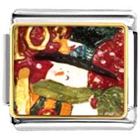 Italian Charms - charms christmas gifts snowman stamp italian charms bracelet link photo italian charm Image.