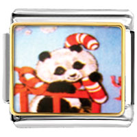 Italian Charms - christmas panda animal photo italian charms bracelet link Image.