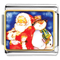 Italian Charms - charms santa claus frosty the christmas gifts snowman italian charms bracelet link photo italian charm Image.