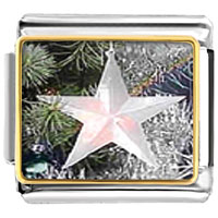 Italian Charms - glowing star ornament christmas italian charms bracelet link photo italian charm Image.