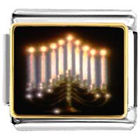 Items from KS - bracelet lit menorah photo religious italian charms link photo italian charm Image.