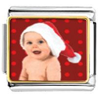 Italian Charms - santa claus christmas gift baby italian charms bracelet link photo italian charm Image.
