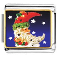 Italian Charms - santa claus christmas gift crescent italian charms bracelet link photo italian charm Image.