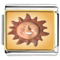 Italian Charms - terra cotta sun italian charms bracelet link photo italian charm Image.