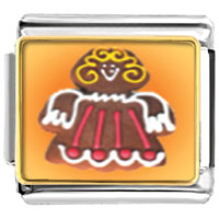 Italian Charms - bracelet gingerbread angel gift photo charm italian photo italian charm Image.