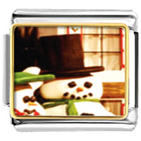 Italian Charms - charms christmas gifts snowman by window italian charms bracelet link photo italian charm Image.