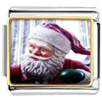 Italian Charms - santa claus christmas gift statue italian charms bracelet link photo italian charm Image.