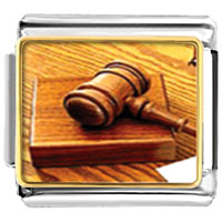Italian Charms - judge' s tool gavel italian charm bracelet photo italian charm Image.