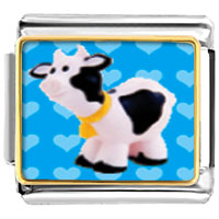 Italian Charms - animal photo toy cow italian charms bracelet link photo italian charm Image.