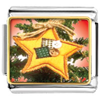 Italian Charms - quilted star ornament christmas italian charms bracelet link photo italian charm Image.