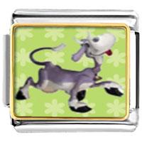 Italian Charms - animal photo dancing cow italian charms bracelet link photo italian charm Image.