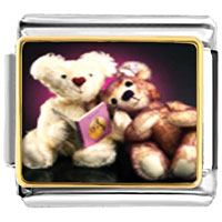 Italian Charms - teddy bear story time italian charms bracelet link photo italian charm Image.