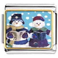 Italian Charms - charms christmas gifts snowman carolers italian charms bracelet link photo italian charm Image.