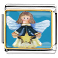 Items from KS - bracelet angel with star italian charms photo italian charm Image.