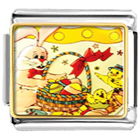Italian Charms - easter animals photo italian charms bracelet link Image.