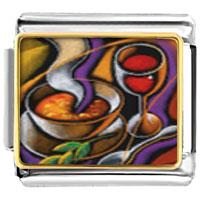Italian Charms - first course art food italian charms bracelet link photo italian charm Image.