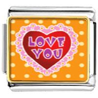Italian Charms - love photo italian charm bracelet Image.