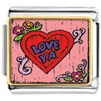 Italian Charms - love ya photo italian charm bracelet Image.