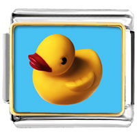Italian Charms - yellow rubber duck italian charms photo italian charm Image.