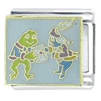Alice In Wonderland Fish Frog Footmen Animal Italian Charms Bracelet Link Licensed Italian Charm