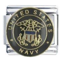 United States Navy Flag Italian Charm Bracelet Bracelet Link X2 Italian Charm