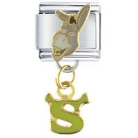 Donkey With Shrek Logo Licensed Italian Charms Bracelet Link Shrek Italian Charm