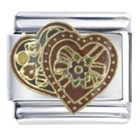 Valentine Chocolates X2 Italian Charm Bracelet