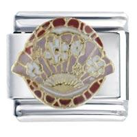 Oriental Fan Italian Charm Bracelet Bracelet Link X2 Italian Charm