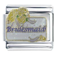 Wedding Bridesmaid Italian Charms Bracelet Link X2 Italian Charm