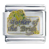 Wedding Mother Of The Bride Italian Charms Bracelet Link X2 Italian Charm