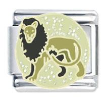 Leo Italian Charms Bracelet Link X2 Italian Charm