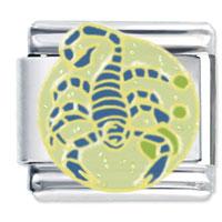 Scorpio Italian Charms Bracelet Link X2 Italian Charm