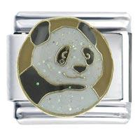 Panda Animal Italian Charms Bracelet Link X2 Italian Charm