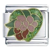 Enamel Fruit Heart 9 Mm Italian Charm Bracelet Tropical Charm X2 Italian Charm