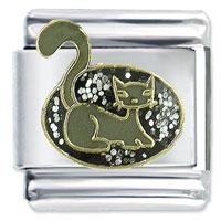 Pretty Kitty 9 Mm Enamel Italian Charms Stainless Steel Bracelet Link X2 Italian Charm