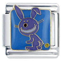 It S Happy Bunny Farting Animal Licensed Italian Charm Bracelet Link