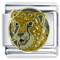 Cheetah S Face Animal Italian Charms Bracelet Link X2 Italian Charm