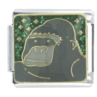 Gorilla Animal Italian Charms Bracelet Link X2 Italian Charm